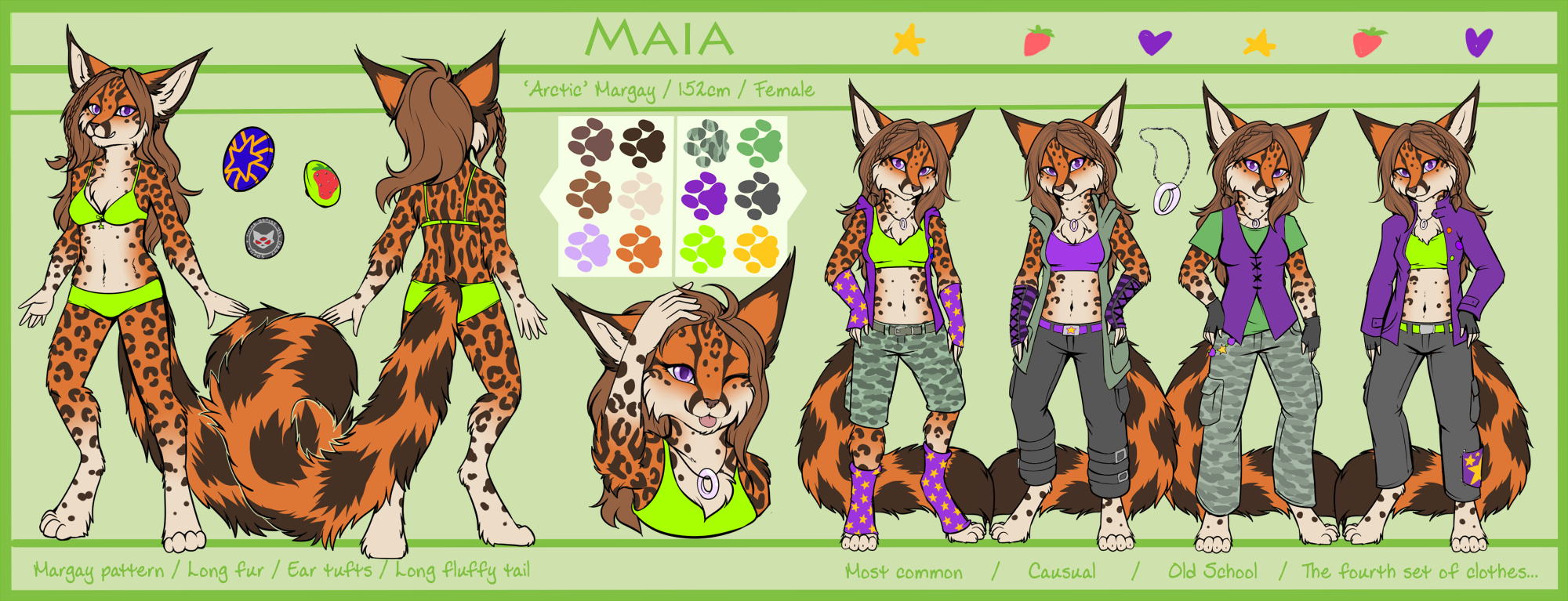 Maia - Reference sheet by Neko-Maya