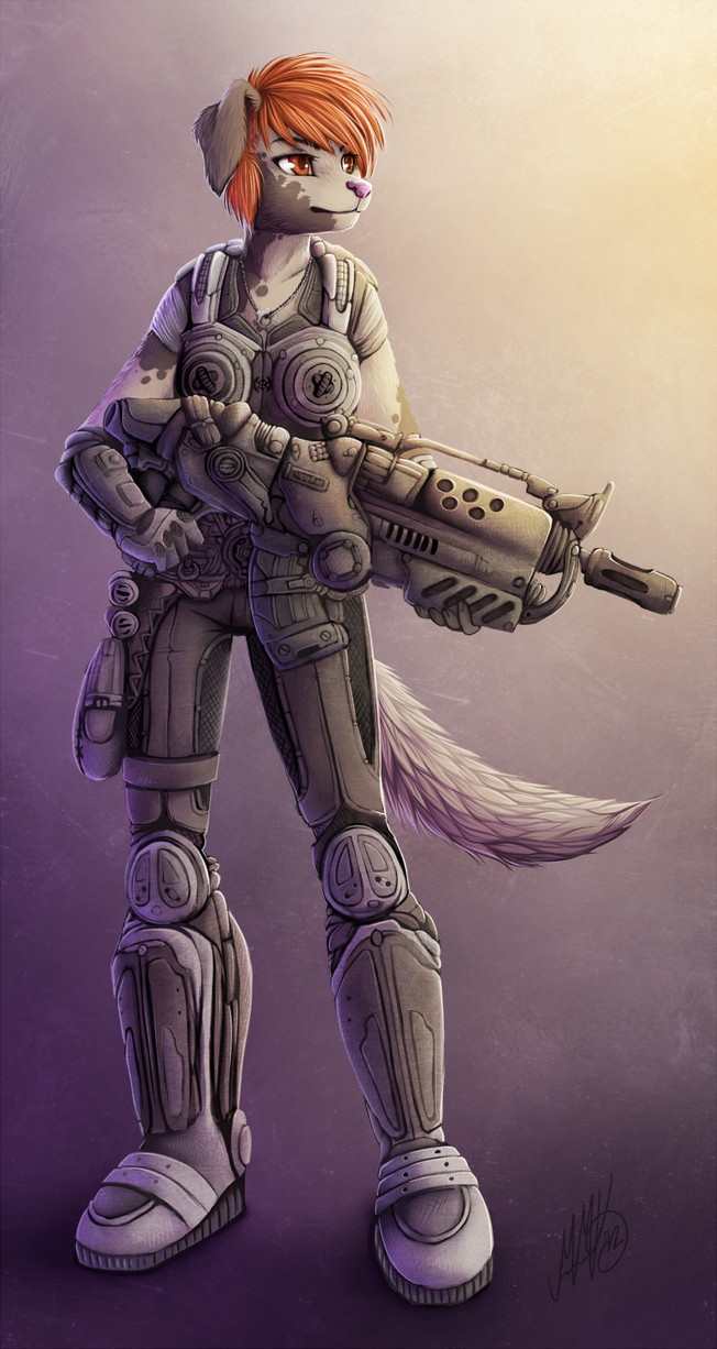 Got the biggest gun. [COLLAB] by Neotheta
