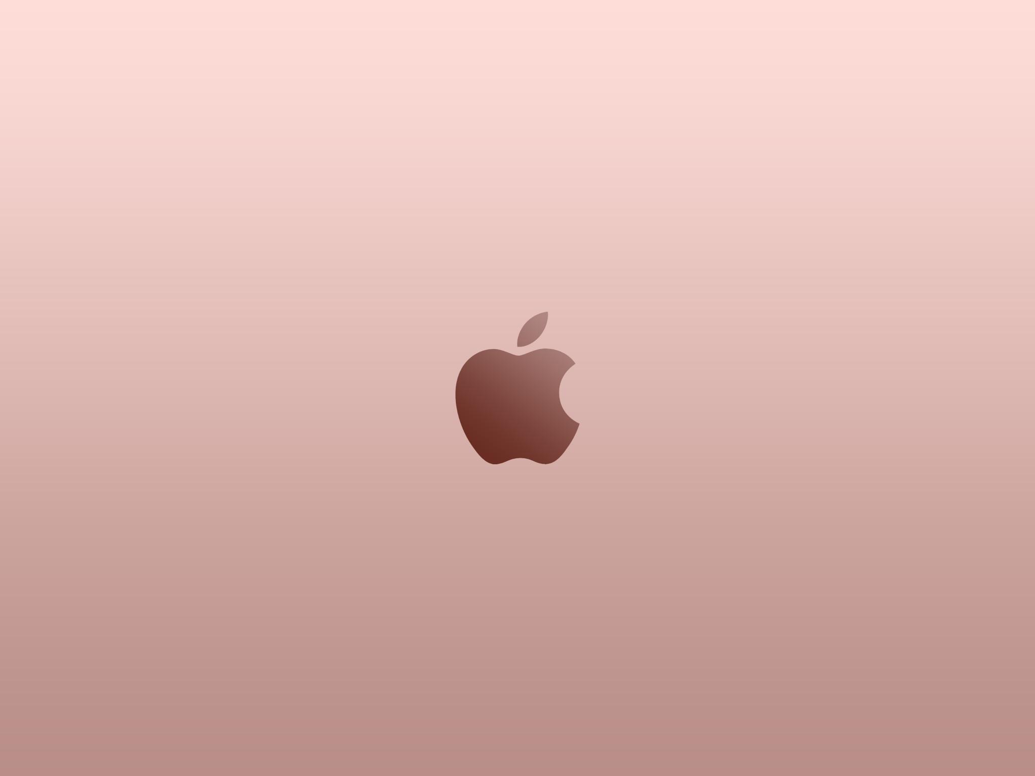 Apple Logo Rose Gold Wallpaper