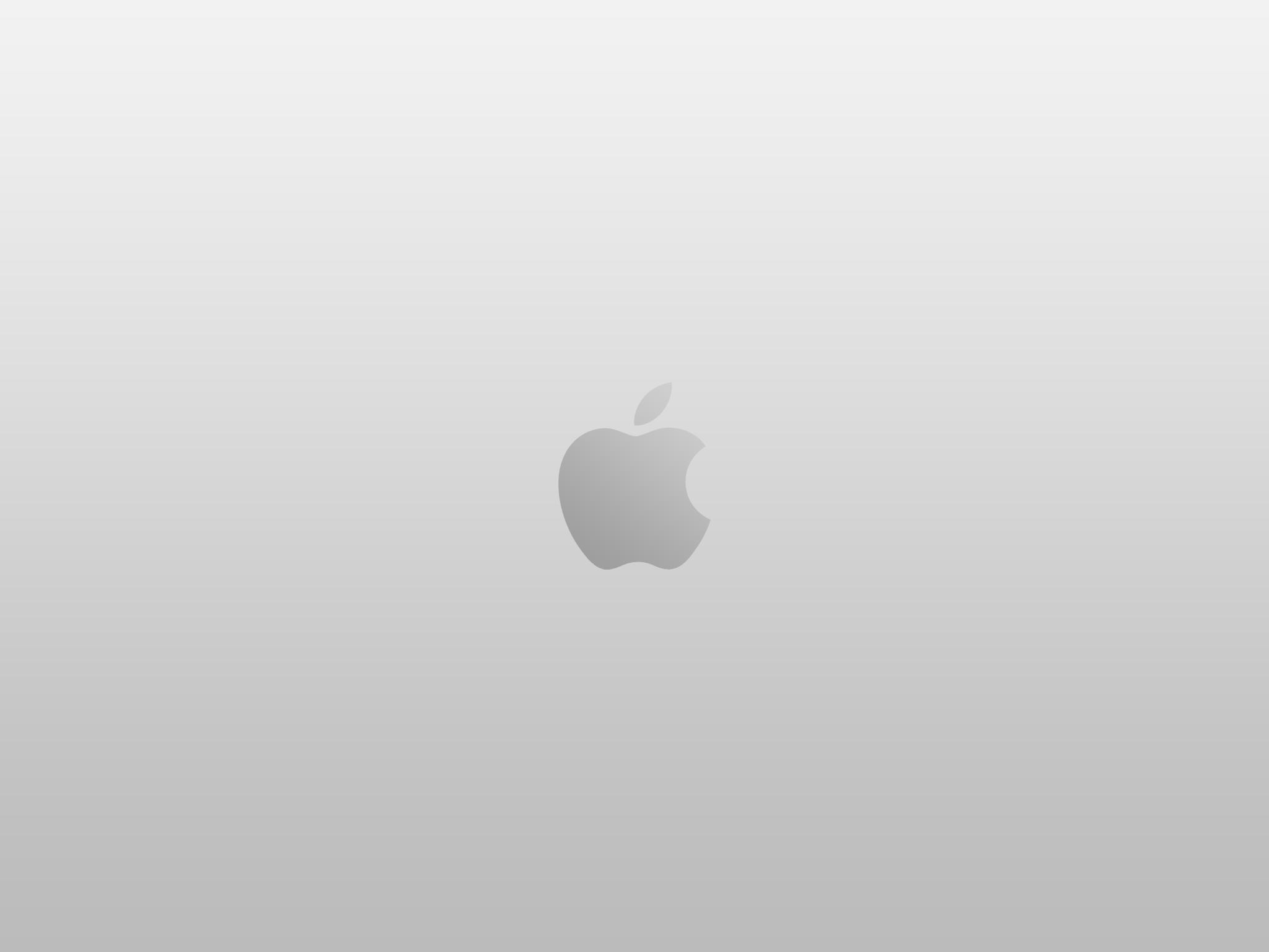 Apple Logo Silver Wallpaper