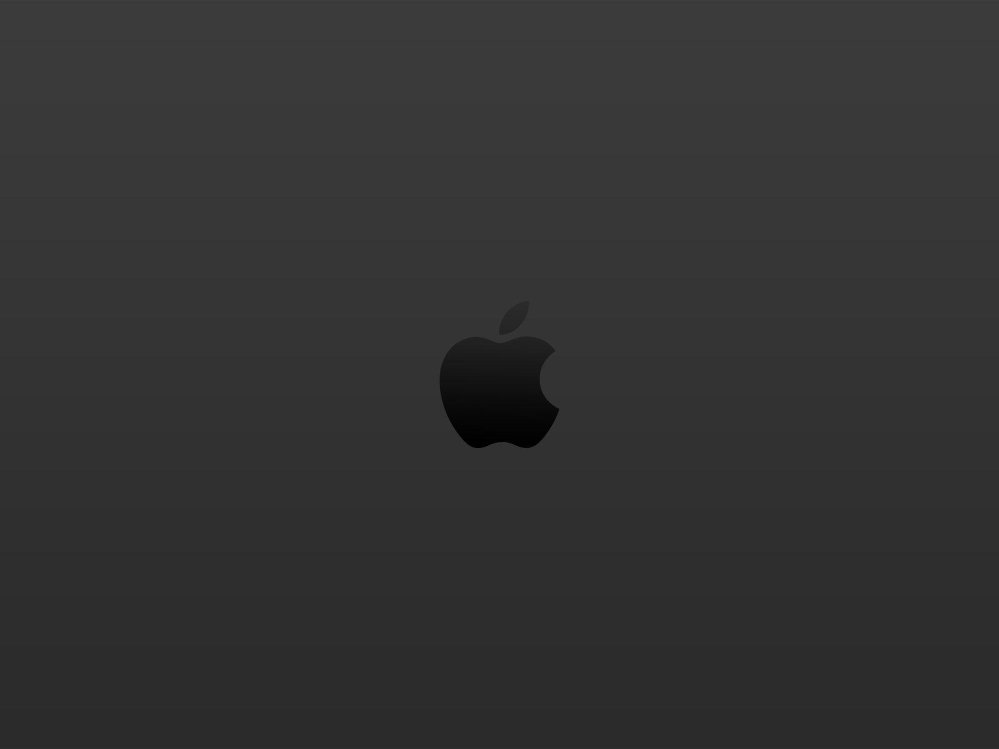 Apple Logo Black Wallpaper