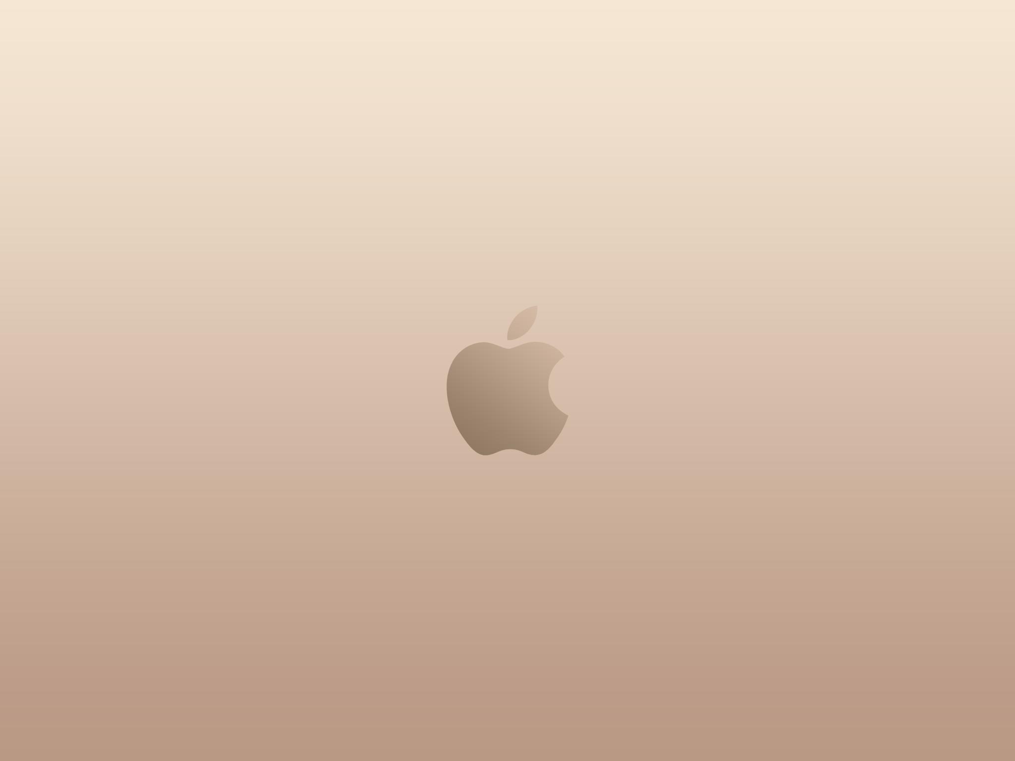 Apple Logo Gold Wallpaper
