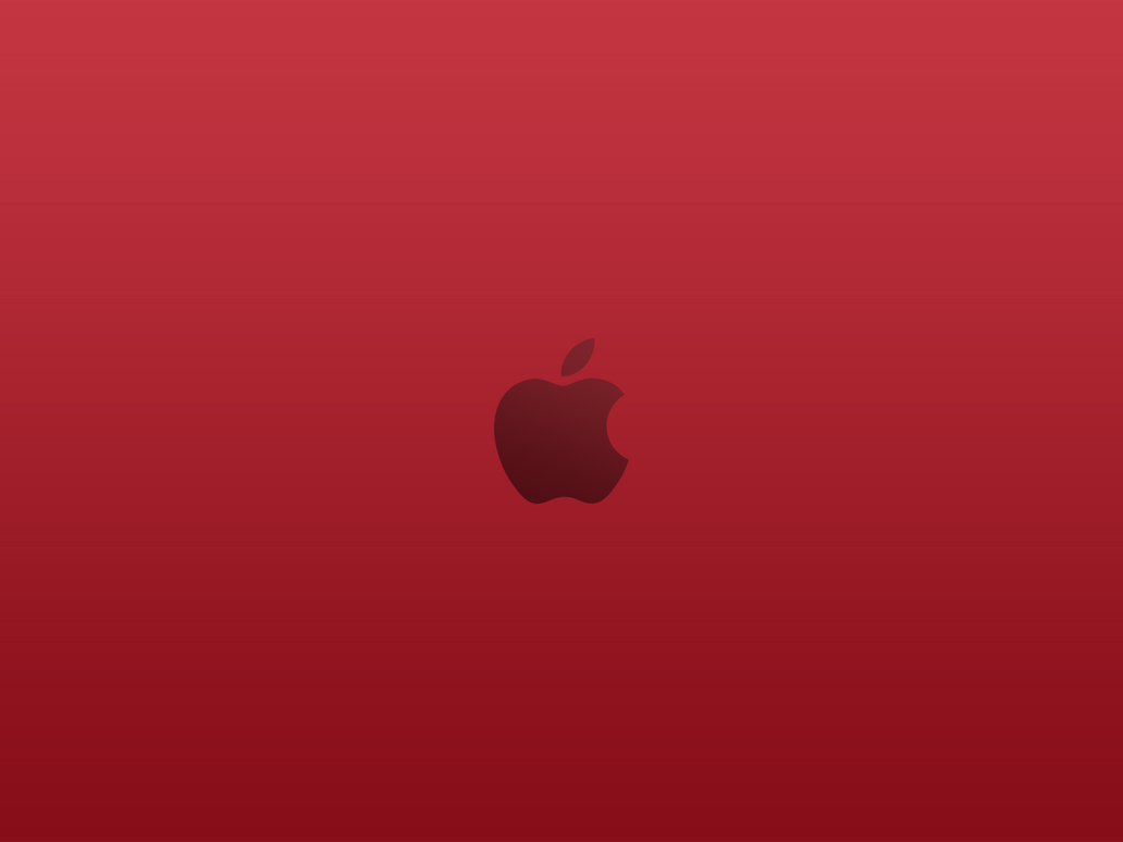 apple logo product (red) wallpapersuperquanganh on deviantart