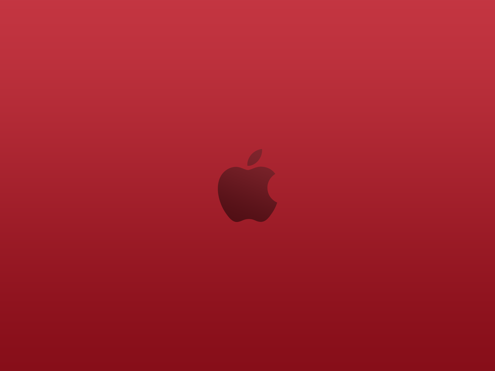 Apple logo Product (RED) Wallpaper