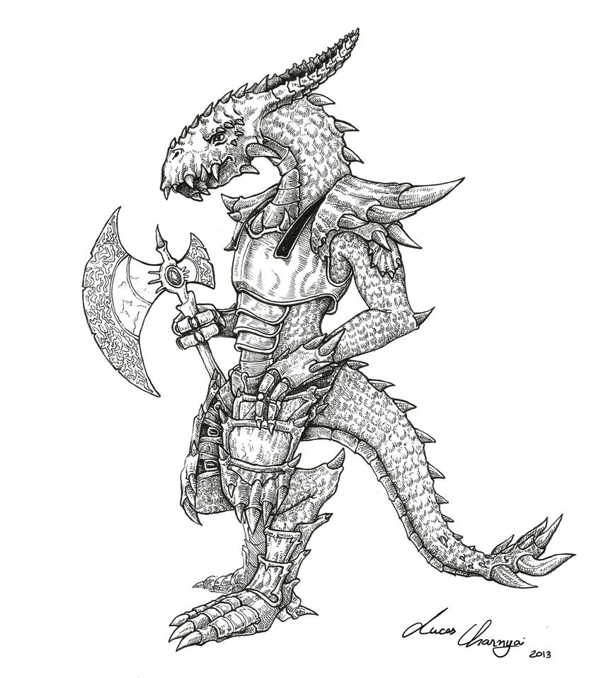 Lizard Warrior by lucascharnyai