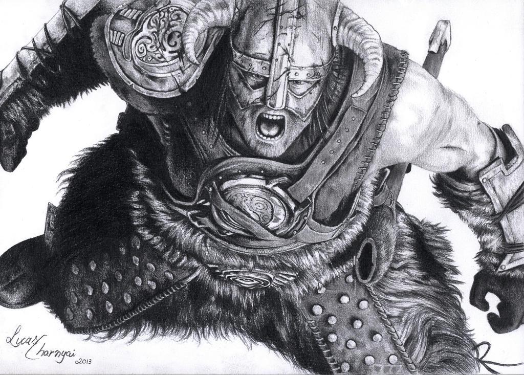 Dovahkiin - The Elder Scrolls V: Skyrim by lucascharnyai