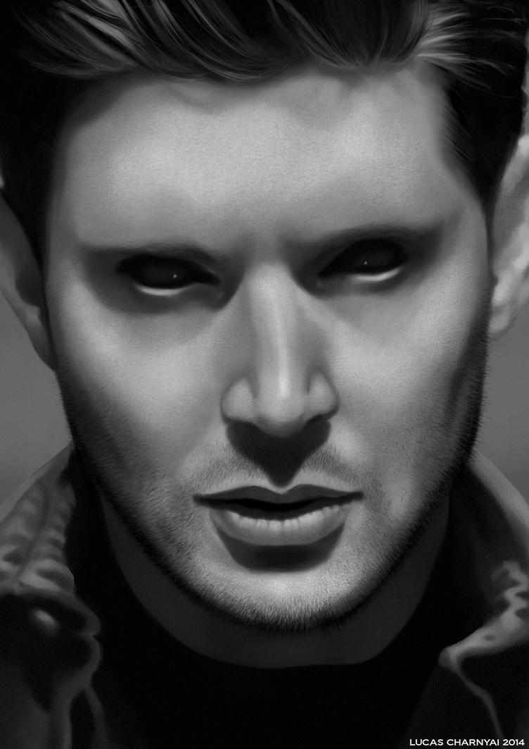 Demon Dean Winchester Portrait - Supernatural by lucascharnyai