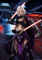 Female Sith - Star Wars Fan Art Original Character by lucascharnyai