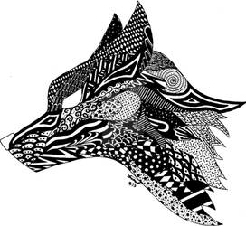 Zentangle Fox
