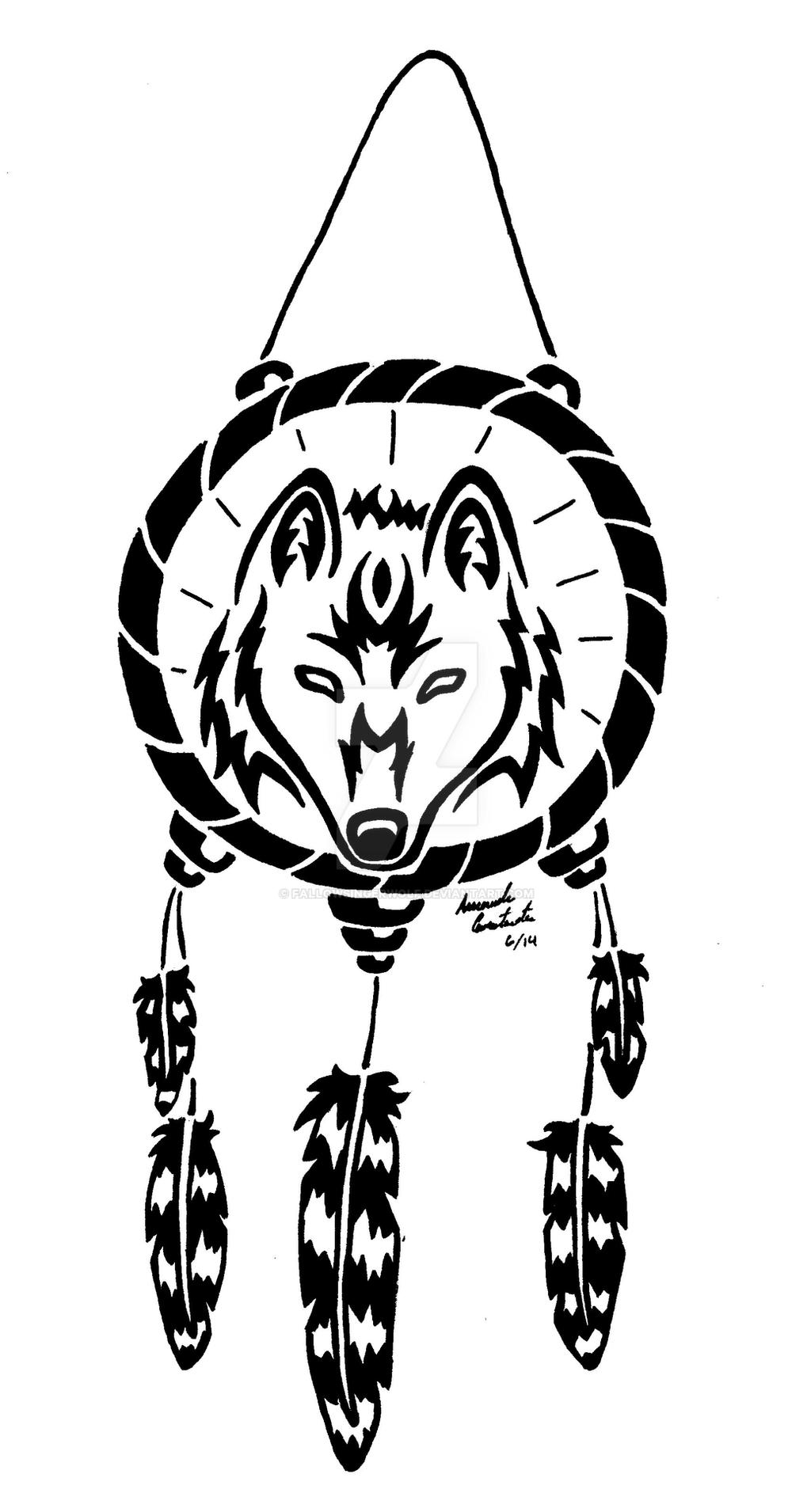 Wolf Dreamcatcher  Drawings By Me D