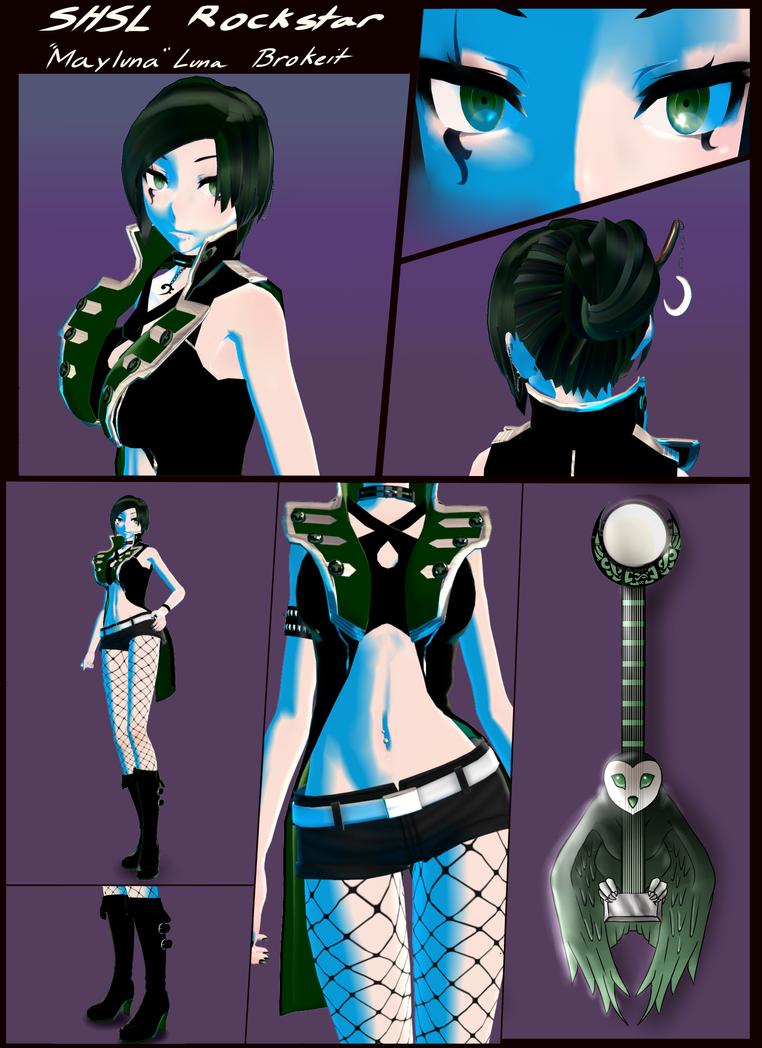 SHSL Rockstar 'Mayluna' Luna Brokeit: MMD Version by MaylunaBrokeit