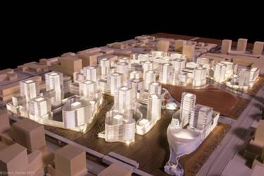 Underlit Urban Development Model by Seanpt-Architecture