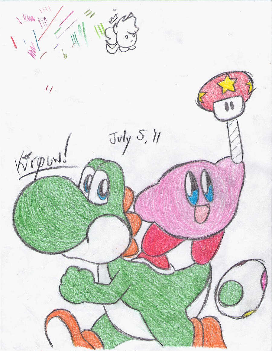 Kirby and Yoshi by kirpow on DeviantArt