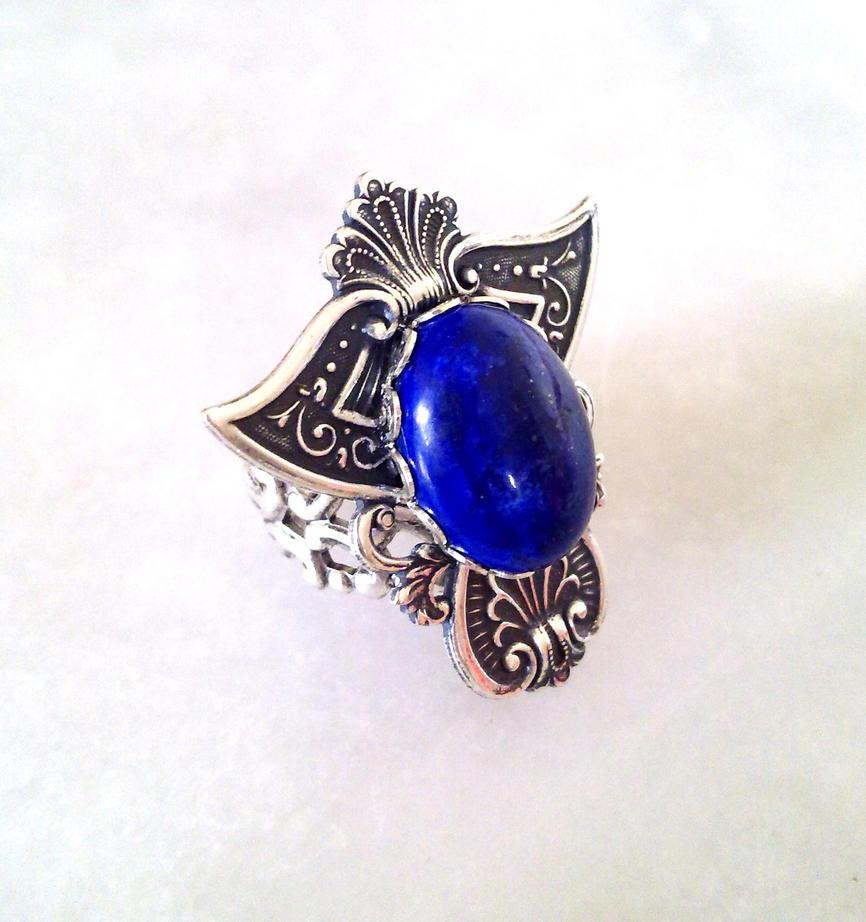 Lapis Lazuli Gothic Ring