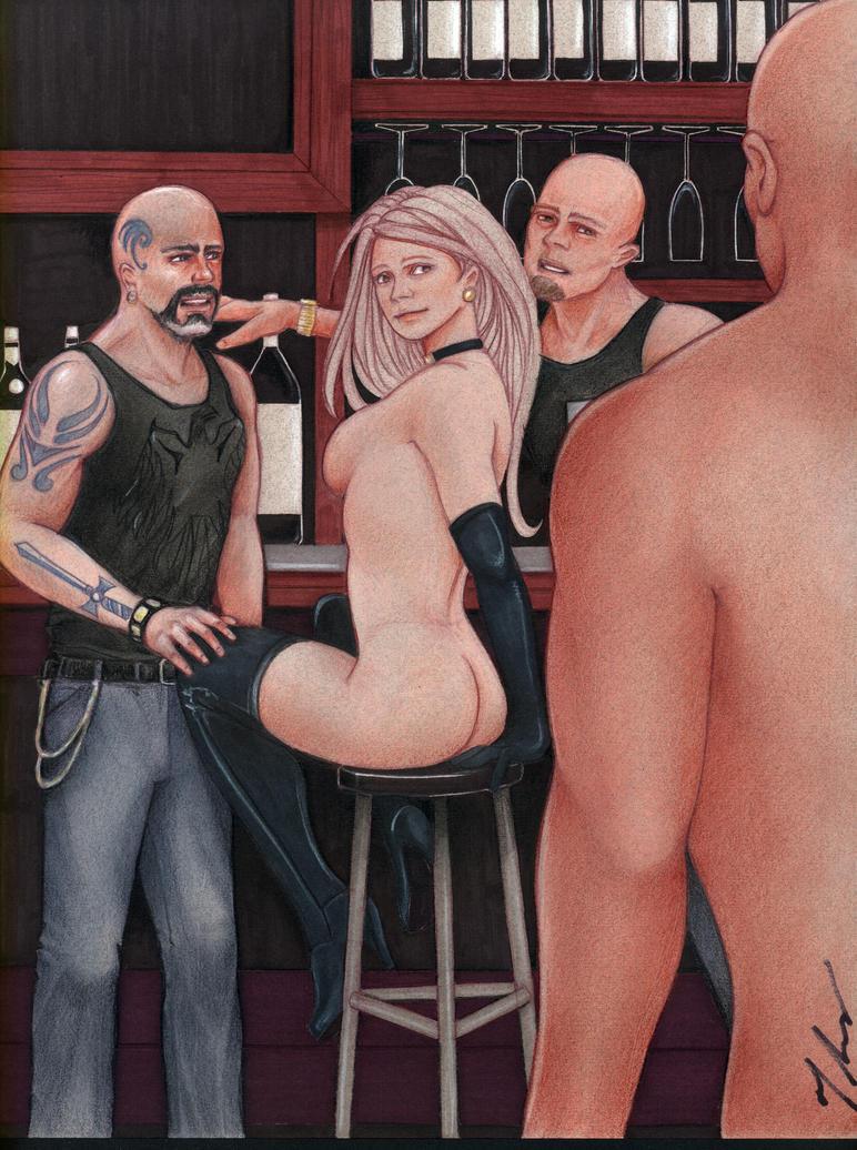 Bar Girl by rodfern2011