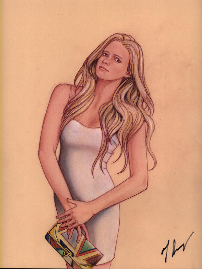 Blonde in White Dress by rodfern2011
