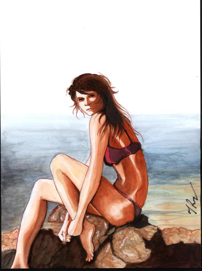 Rocks and Bikini by rodfern2011