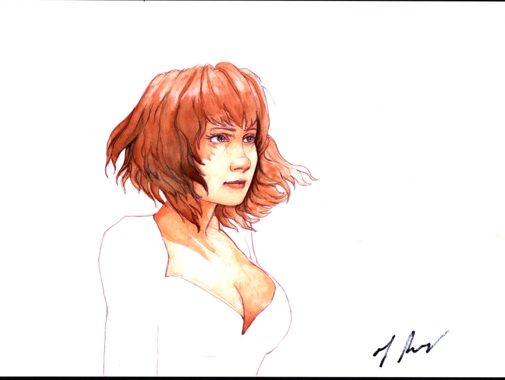 Red Hair and White by rodfern2011