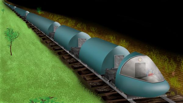 Infinite Train by Ashol