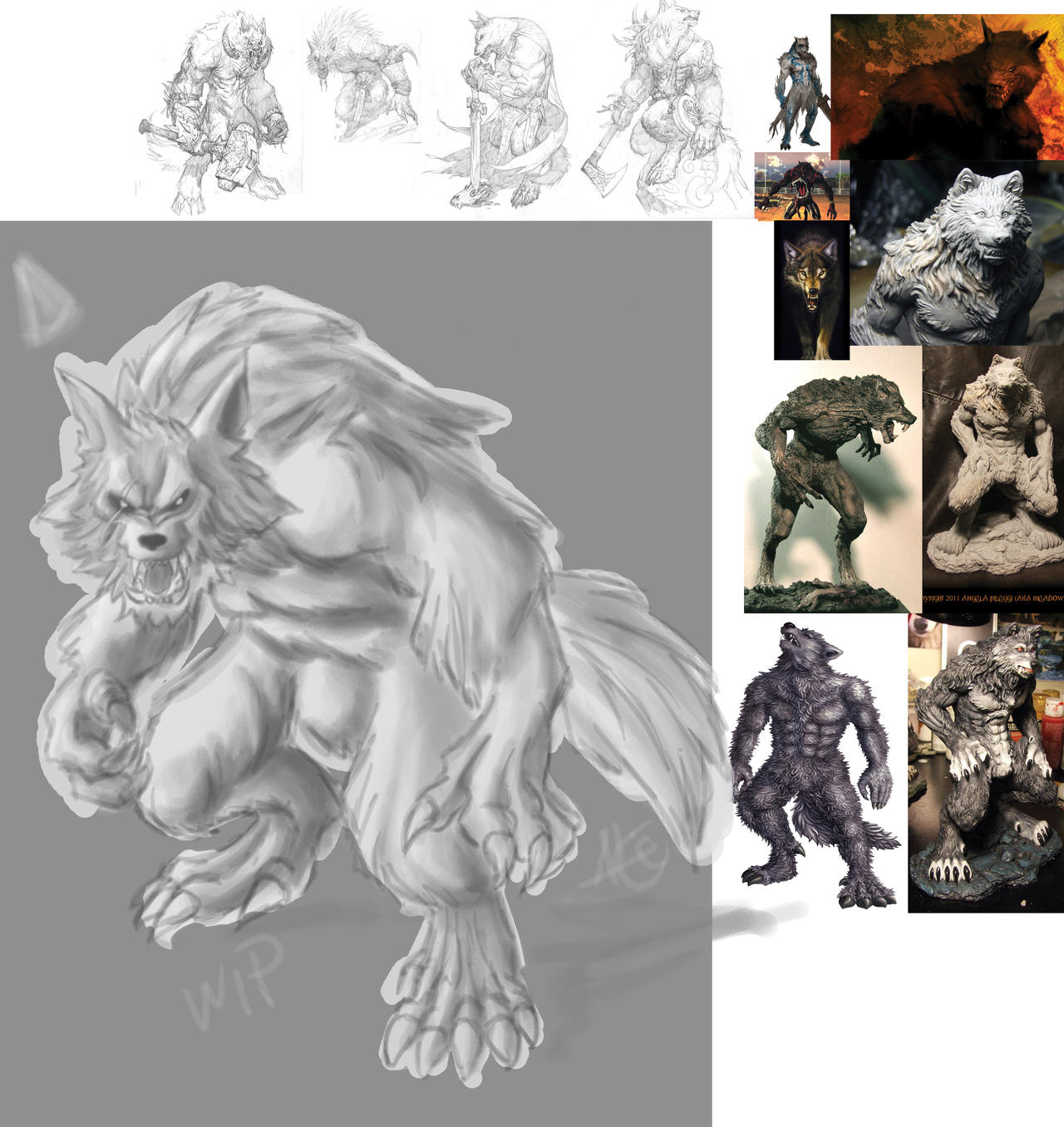 Alpha Werewolf wip by Alicemonstrinho