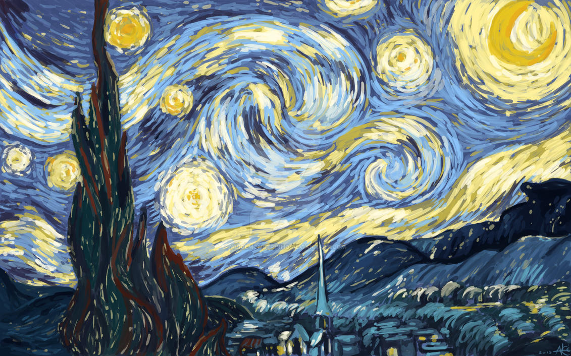 Starry night by Alicemonstrinho