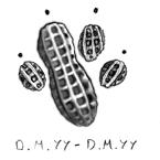 Peanut Paw Print by Inspirized