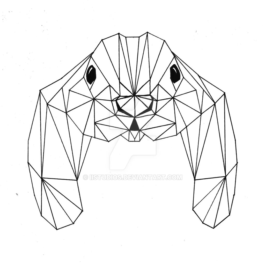 geometric rabbit head by iistudios on deviantart
