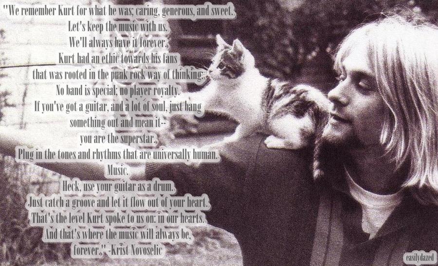 Smiling Kurt Cobain Quotes Nirvana Quote