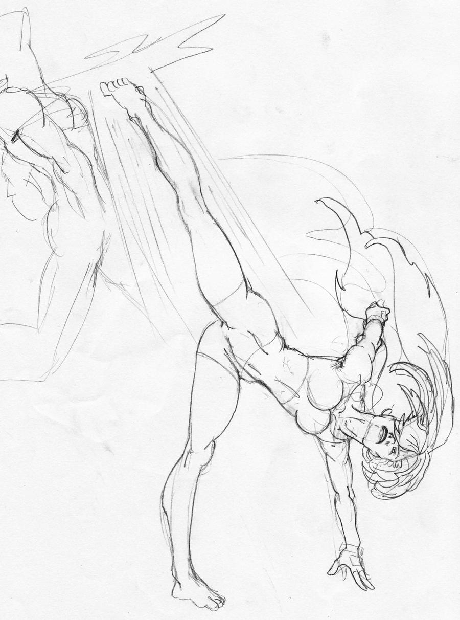 It's just a picture of Wild Warrior Pose Drawing