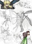 Laby sketches: Jareth and Sarah as fairies