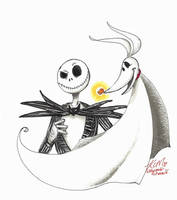 Jack Skellington and Zero by Kiyomi-chan16
