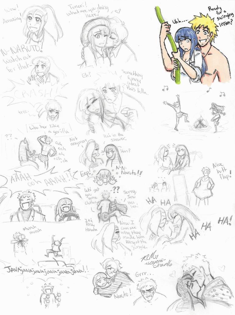 Naruhina sketches: Naruto of the Jungle by Kiyomi-chan16