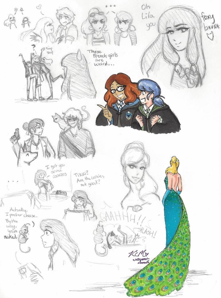 Miraculous Ladybug sketches 2 by Kiyomi-chan16 on DeviantArt