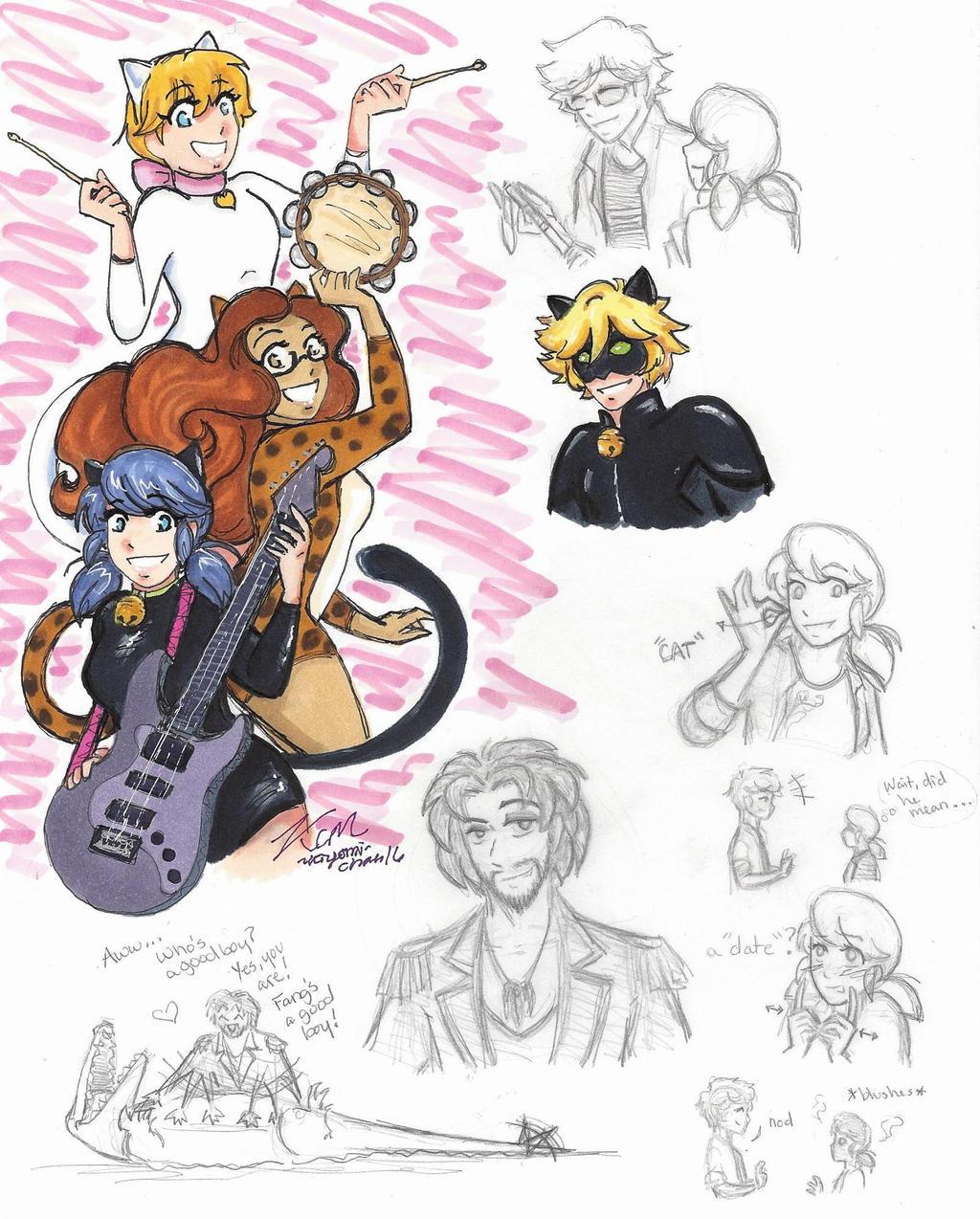 Miraculous Ladybug sketches 3 by Kiyomi-chan16 on DeviantArt