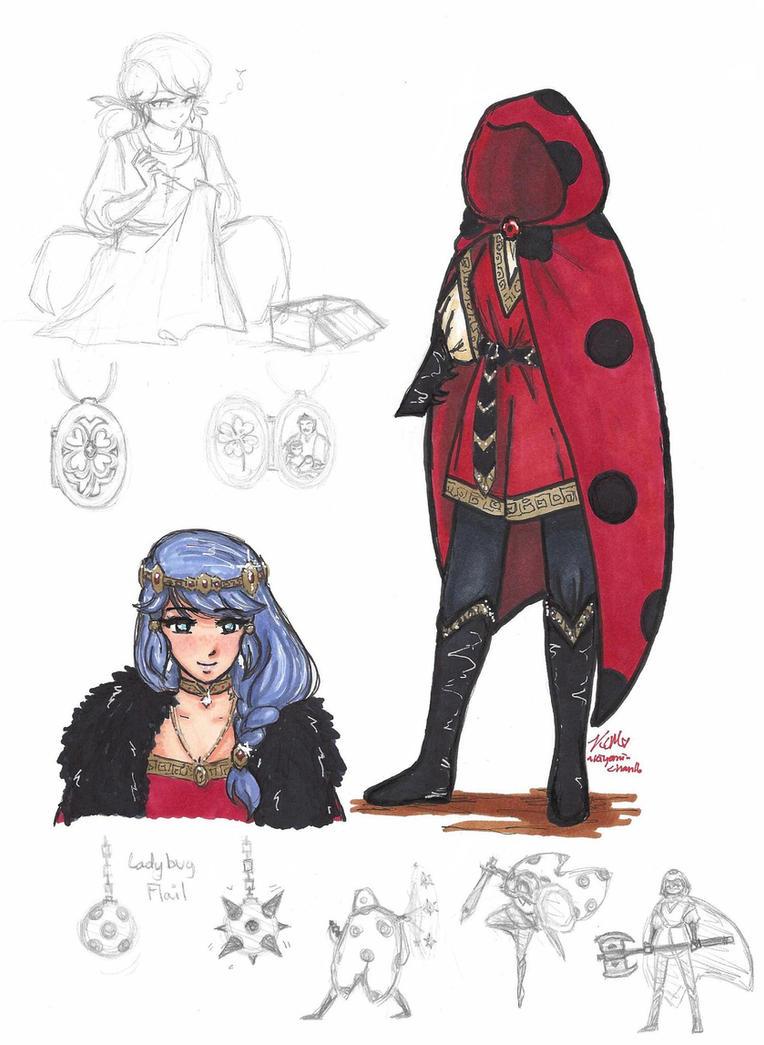 Miraculous Ladybug: Marinette in Fantasy/ LotR AU by Kiyomi-chan16
