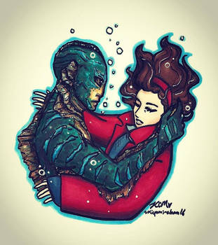 The Shape of Water- Elisa and The Asset by Kiyomi-chan16