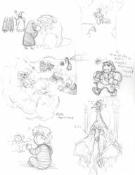 Labyrinth: Hogwarts AU- Laby characters by Kiyomi-chan16