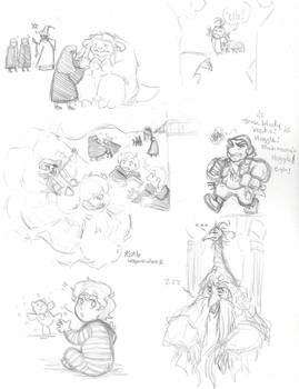 Labyrinth: Hogwarts AU- Laby characters