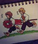 LOTR prompt #5: Merry and Pippin