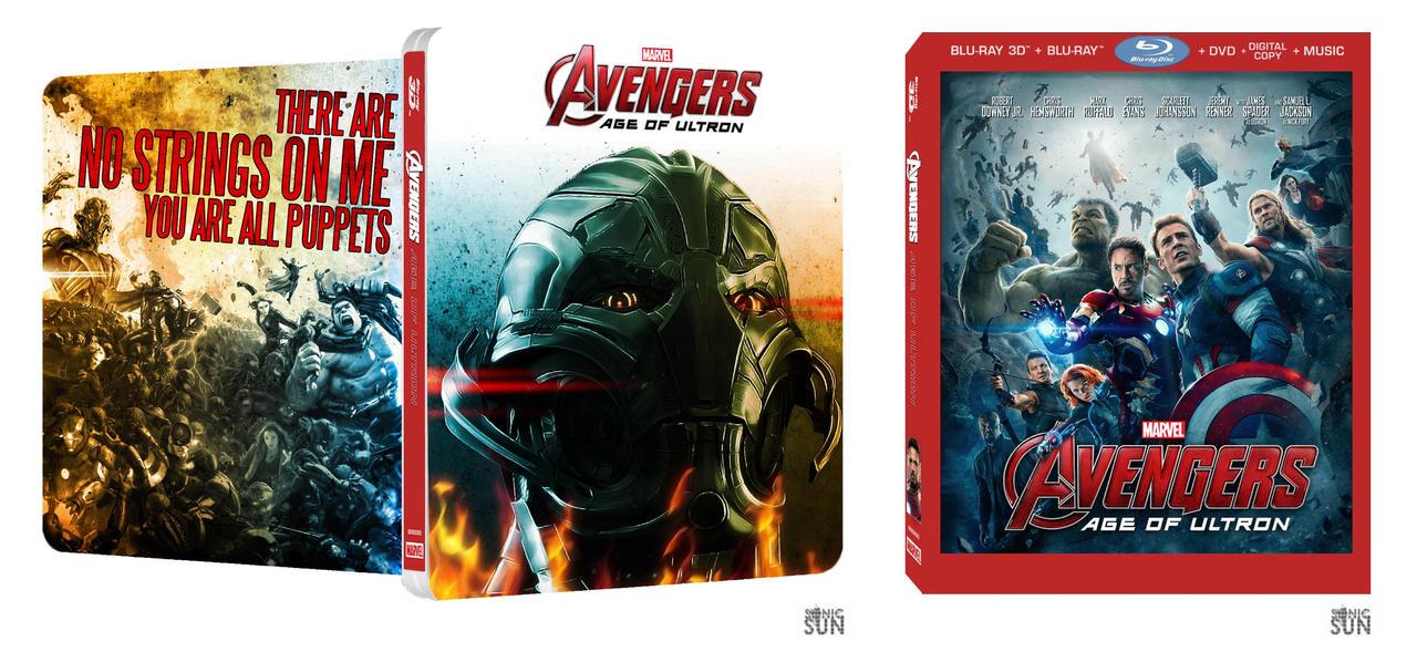 ... Ultron Blu-ray, DVD & Steelbook Artwork Revealed; UK Release Date Set