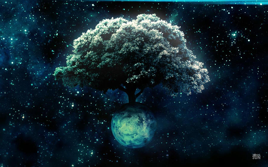Photoshop Practice - Space Tree by Sonic-Sun on DeviantArt
