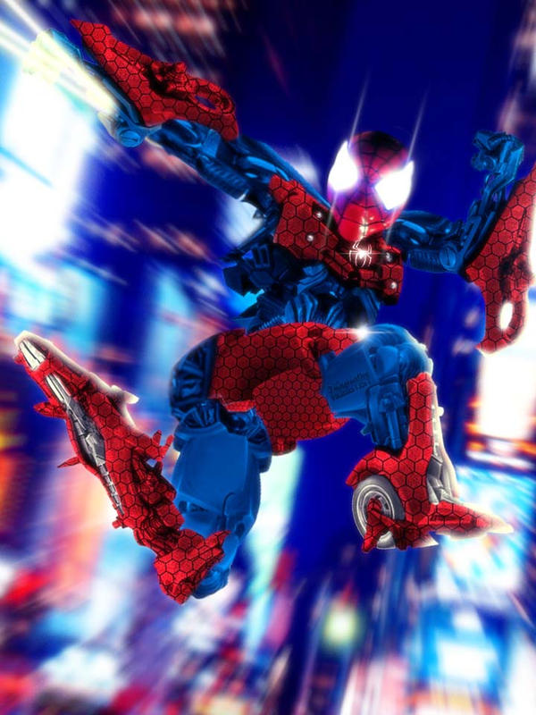 amazing spider bot spider man x transformers by sonic sun on