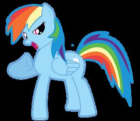 Rainbowdash vector by laricot