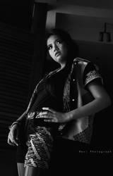 Batik black and white