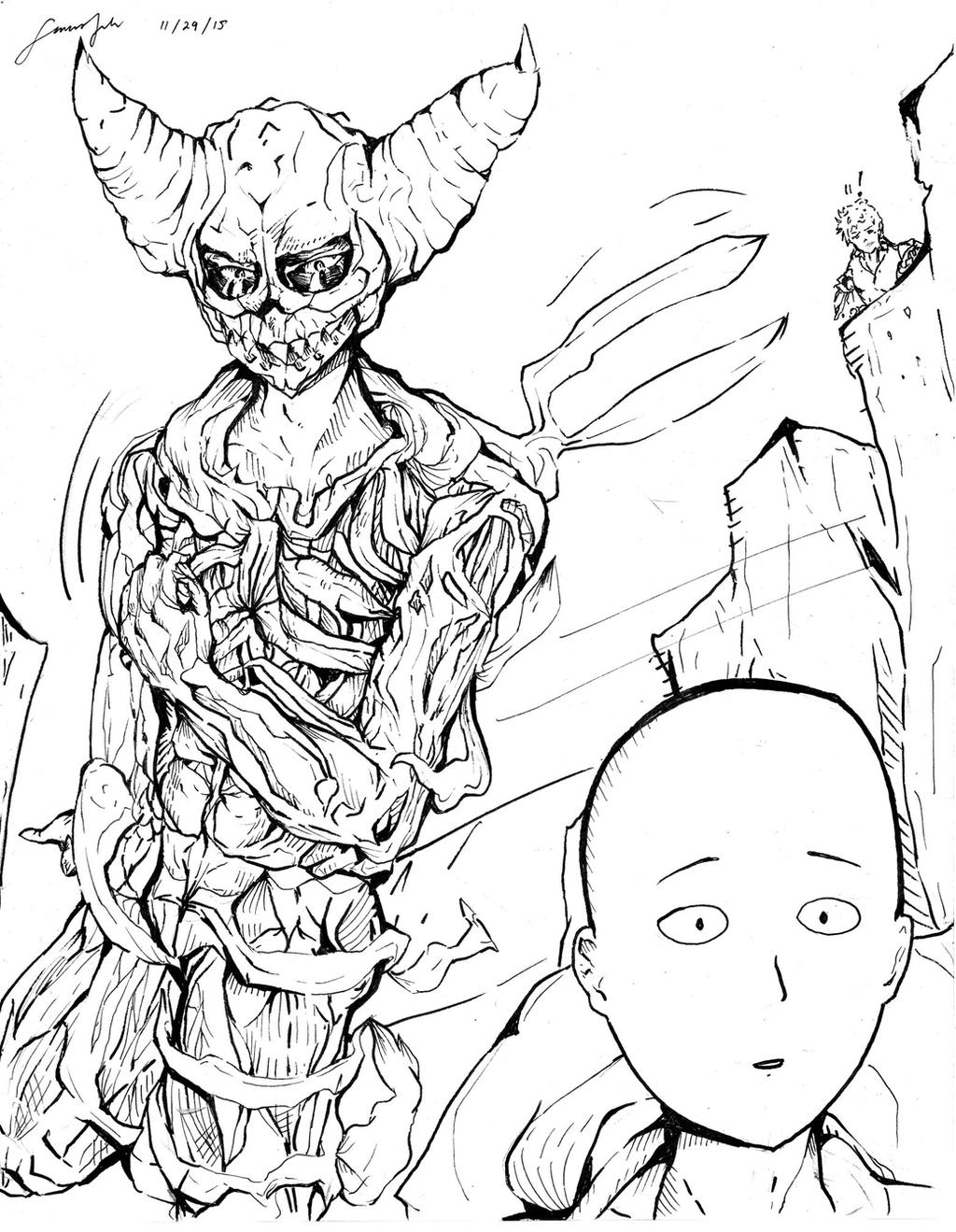 Garou One Punch Man Scanned 575154464 further One Punch Man Sketches 1 568818523 in addition Unfinished Lord Boros Art 487030495 likewise Affiliate News Extra Edition together with More I Drew Erejean For My Friend Because She. on faq opm