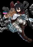 Render Mikasa Ackerman