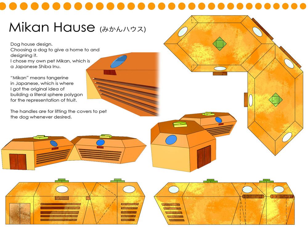 Mikan Dog House by toumin
