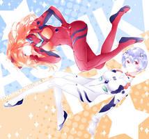 Rei + Asuka by toumin
