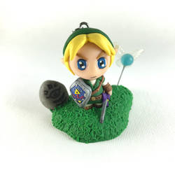 Ocarina of Time Link chibi with stand