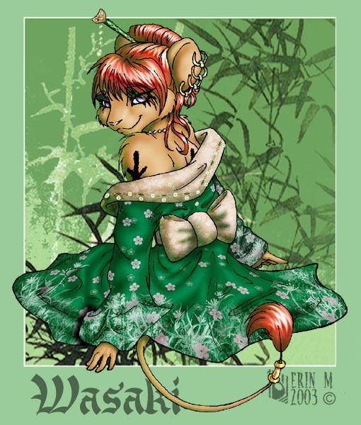 Wasaki is pretty in green by washipuppy